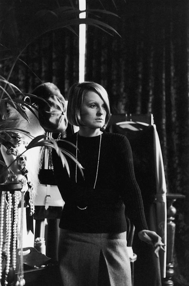 Barbara Hulanicki, designer and founder of Biba, in her first boutique in Abingdon Road, Kensington, London, mid 1960s. (Photo by Charles Edridge/Getty Images)