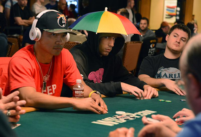 In this photo provided by the Las Vegas News Bureau, players begin the World Series of Poker $10,000 buy-in Main Event in Las Vegas on Saturday, July 6, 2013. (AP Photo/Las Vegas News Bureau, Brian Jones)