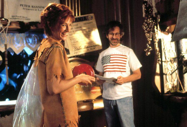 Julia Roberts, who played Tinkerbell in 'Hook,' with director Steven Spielberg (Photo: Everett Collection)