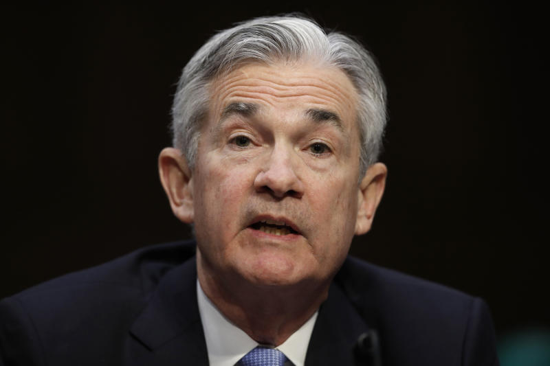 <p> FILE - In this Tuesday, Nov. 28, 2017, file photo, Jerome Powell, President Donald Trump's nominee for chairman of the Federal Reserve, testifies during a Senate Banking, Housing, and Urban Affairs Committee confirmation hearing on Capitol Hill in Washington. On Wednesday, Jan. 17, 2018, the Senate Banking Committee voted for a second time to approve Powell to be the next chairman of the Federal Reserve. (AP Photo/Carolyn Kaster, File) </p>