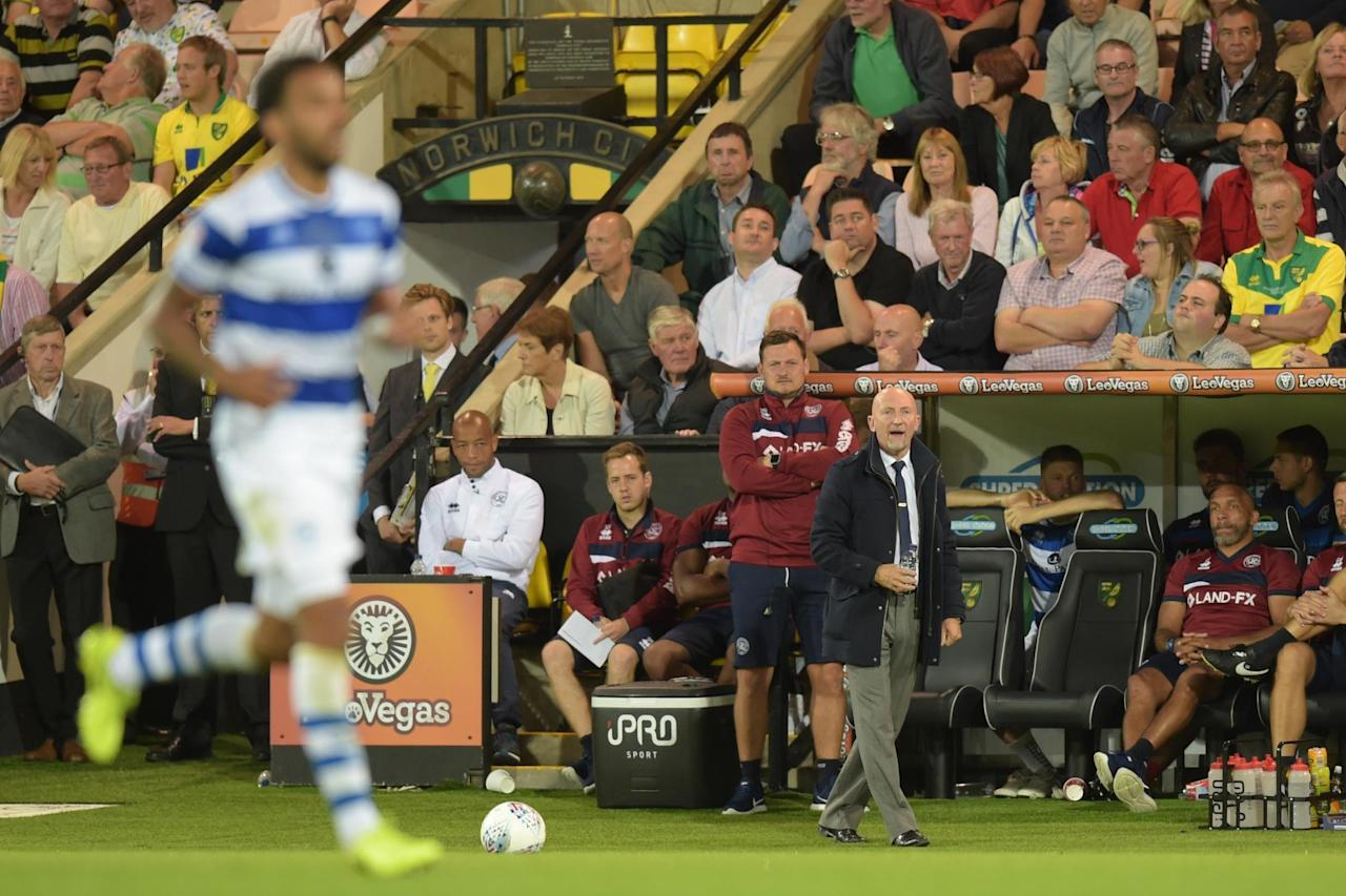 Ian Holloway frustrated by costly defensive slip in QPR's defeat at Norwich City