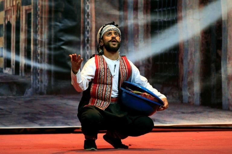 Hoping to provide entertainment to the people of embattled Sanaa, a troupe of struggling artists performed in the Yemeni capital a play called 'Yemeni Film', which showcased the country's hardships