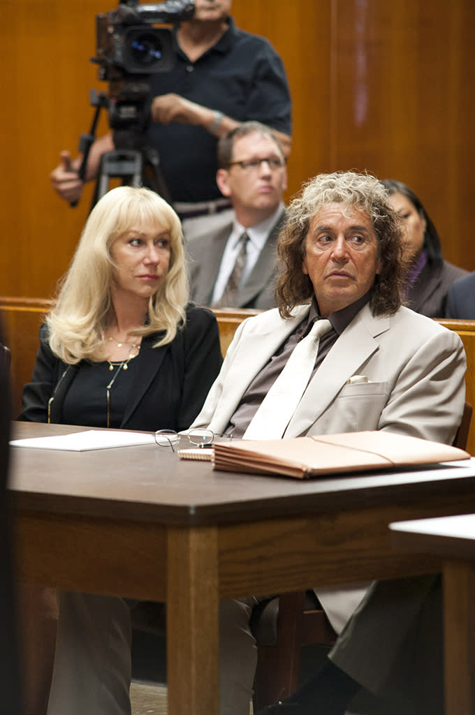 "Helen Mirren and Al Pacino in HBO Films? ""Phil Spector,"" debuting Sunday, March 4 on HBO."