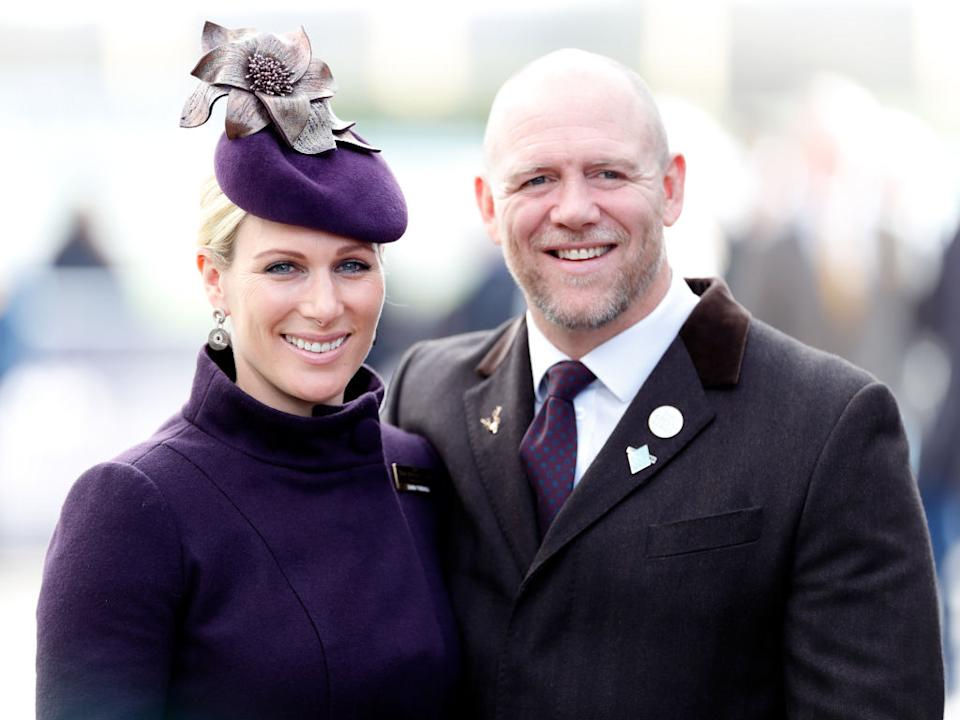 Zara and Mike Tindall have welcomed their third child via an unexpected home birth, pictured March, 2020. (Getty Images)