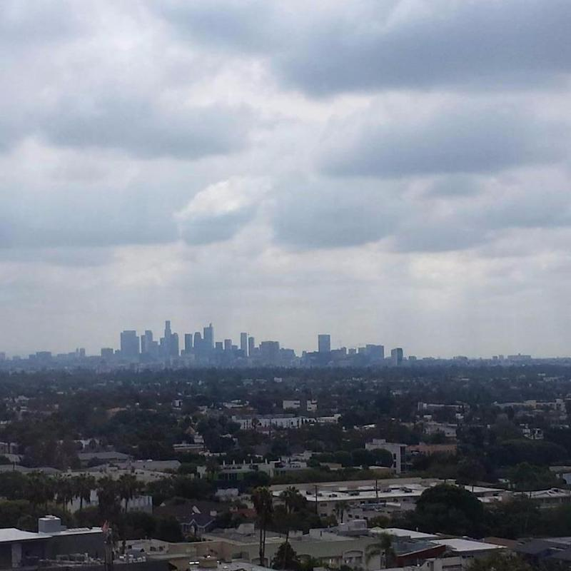 Our view of Downtown LA. Photo: Be