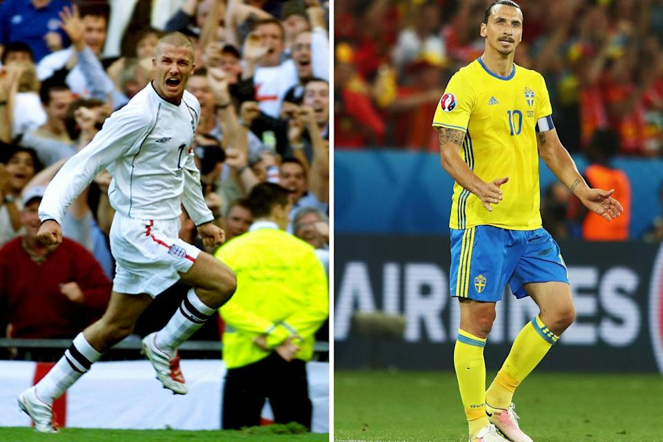 David Beckham will take Zlatan Ibrahimovic to a game at Wembley in full England kit after the Three Lions' victory