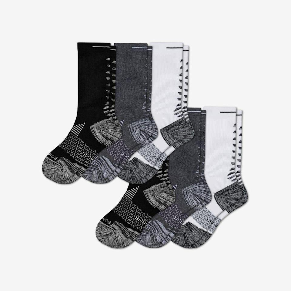 "<p>bombas.com</p><p><strong>$91.20</strong></p><p><a href=""https://bombas.com/products/womens-performance-running-calf-sock-6-pack?variant=white-charcoal-black&size=m"" rel=""nofollow noopener"" target=""_blank"" data-ylk=""slk:Shop Now"" class=""link rapid-noclick-resp"">Shop Now</a></p>"