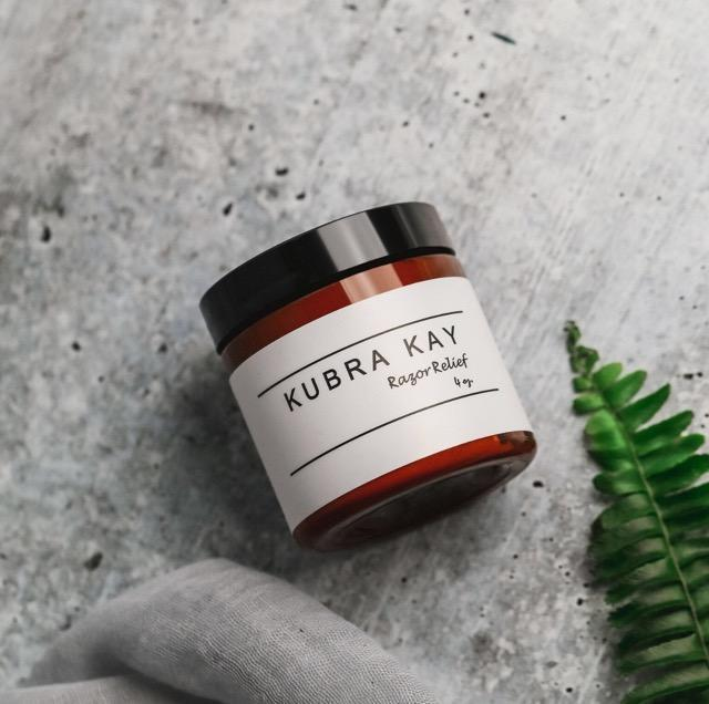 """<h2>Kubra Kay Skincare <br></h2><br><br>Khadidja Toure is a biomedical engineer by day and the founder of Kubra Kay Skincare by night. The complete line of moisturizers and tools are all vegan and cruelty-free and pay homage to Toure's West African culture. We especially love this Razor Relief moisturizer, which has tea tree oil and turmeric to soothe and soften irritation after shaving. <br><br><strong>Kubra Kay Skincare</strong> Kubra Kay Skincare Razor Relief, $, available at <a href=""""https://go.skimresources.com/?id=30283X879131&url=https%3A%2F%2Fwww.kubrakayskincare.com%2Fcollections%2Fmoisturizers%2Fproducts%2Frazor-relief"""" rel=""""nofollow noopener"""" target=""""_blank"""" data-ylk=""""slk:Kubra Kay Skincare"""" class=""""link rapid-noclick-resp"""">Kubra Kay Skincare</a>"""