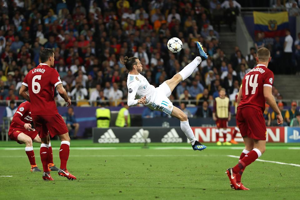 Gareth Bale scored the winner for Real Madrid in the Champions League final, just as he did back in 2014. (Getty)