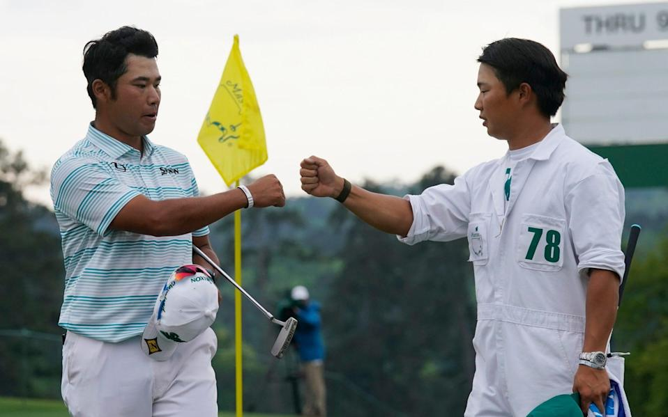 Hideki Matsuyama leads Masters by four after ball-striking exhibition at Augusta - AP