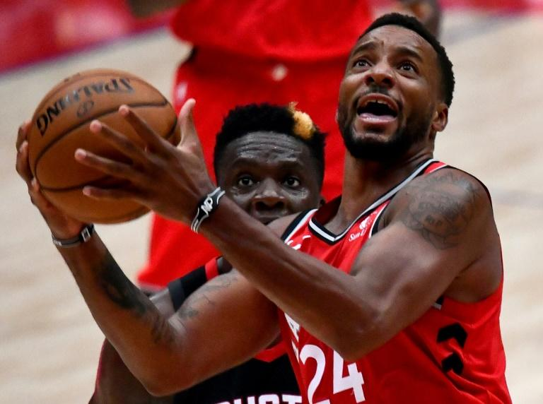 Toronto forward Norman Powell came off the bench to become one of seven Raptors in double figure scoring against the Washington Wizards