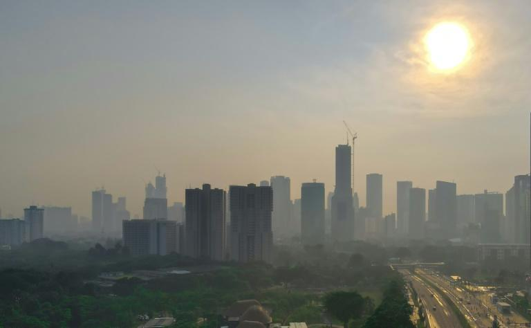Jakarta is regularly ranked among the most polluted cities in the world (AFP/BAY ISMOYO)