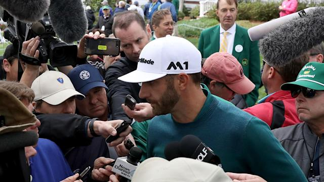 "Discussing his withdrawal from the Masters without playing a shot, Dustin Johnson said: ""It sucks really bad."""