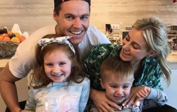 The couple share two children Pixie and Hunter. Source: Instagram