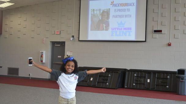PHOTO: Amariyanna 'Mari' Copeny known as Little Miss Flint raised 1,000 backpacks and $10,000 with the help of non-profit Pack Your Bag for students in Flint, Mich. (Loui Brezzell)