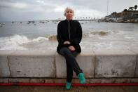 British citizen Samantha Harding poses for a photo in Cascais