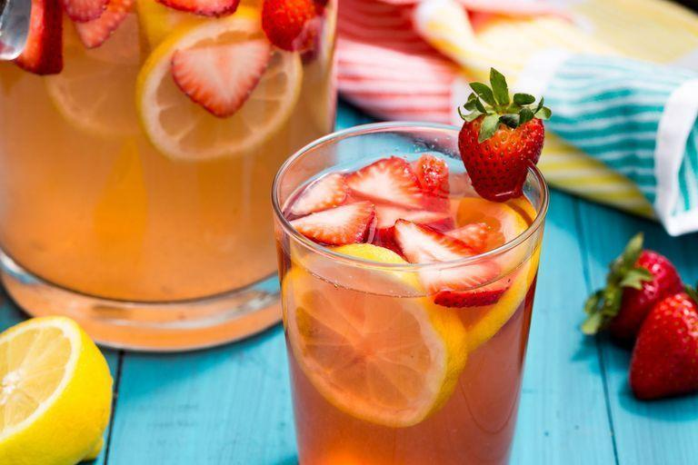 "<p>Sip on pink lemonade with a grown-up twist.</p><p>Get the <a href=""https://www.delish.com/uk/cocktails-drinks/a36108287/spiked-strawberry-lemonade-recipe/"" rel=""nofollow noopener"" target=""_blank"" data-ylk=""slk:Pink Lemonade Sangria"" class=""link rapid-noclick-resp"">Pink Lemonade Sangria</a> recipe.</p>"