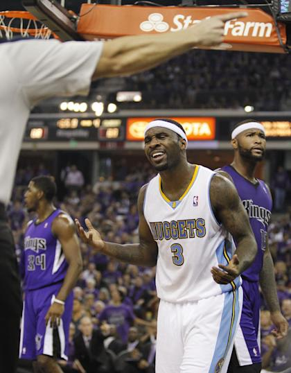 Ty Lawson reacts. (AP/Genevieve Ross)