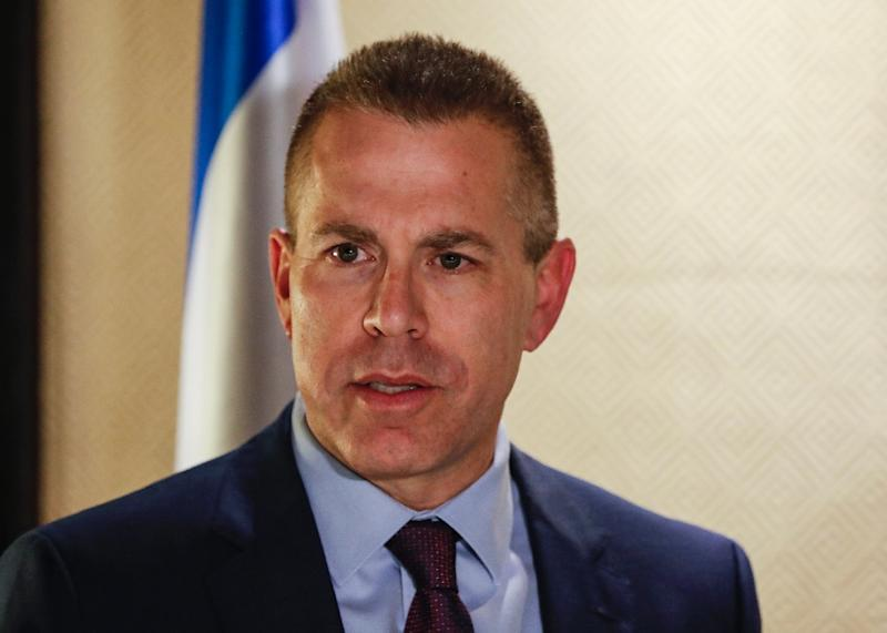 Israel's Public Security Minister Gilad Erdan is threatening to ban Amnesty International from the country over a campaign for digital accommodation providers to stop listing properties in occupied Palestinian territories (AFP Photo/Ahmad GHARABLI)