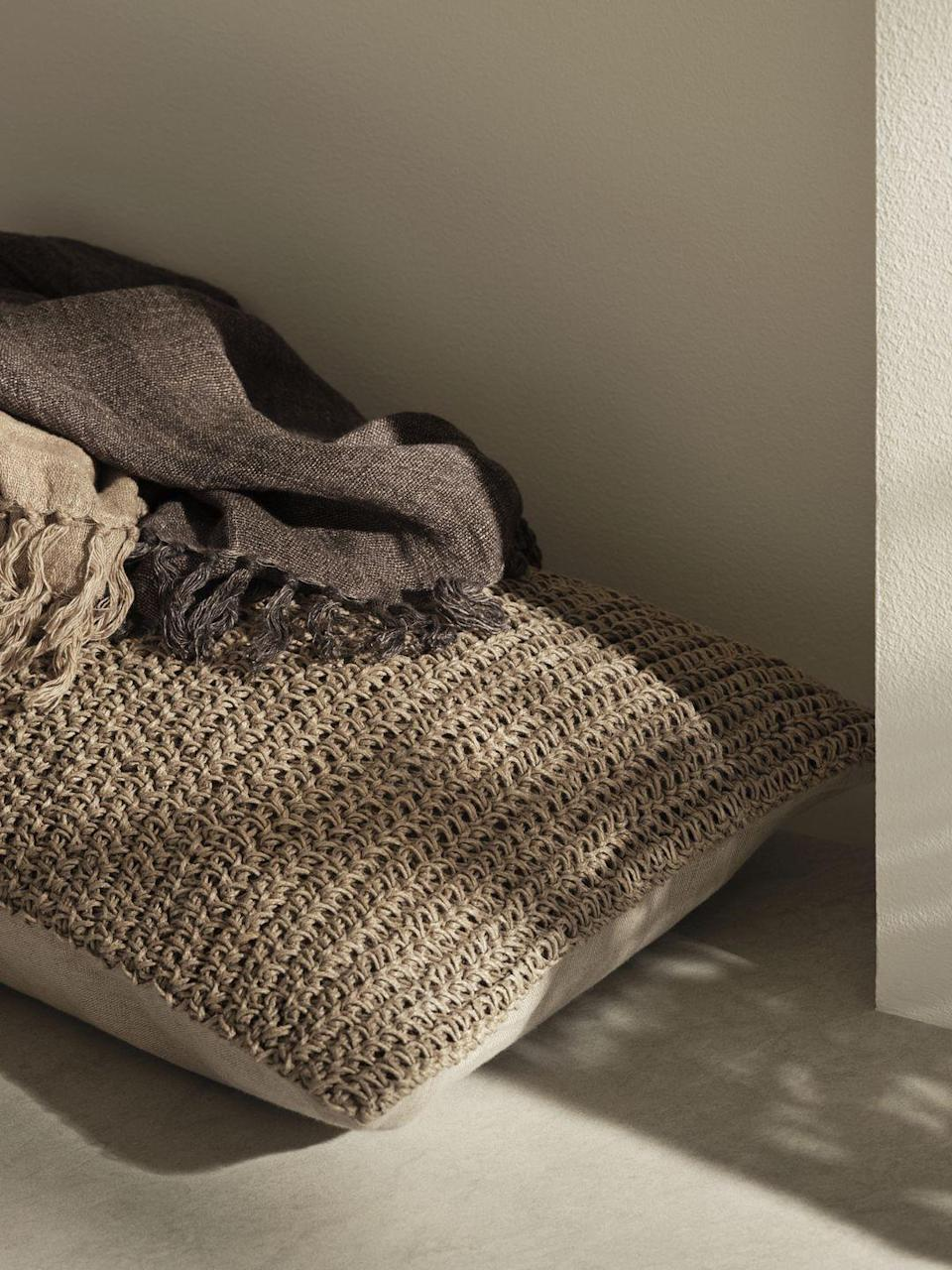 """<p>'For the first time we introduce cushion covers made with Himalayan nettle,' add H&M Home. </p><p>'The plant grows wildly in Nepal, where the cultivation into fibres provides a livelihood to the local villagers. Due to differences in the shades, the yarn has a natural variation, as the nettle can vary from season to season and between areas.'</p><p><a class=""""link rapid-noclick-resp"""" href=""""https://go.redirectingat.com?id=127X1599956&url=https%3A%2F%2Fwww2.hm.com%2Fen_gb%2Fhome.html&sref=https%3A%2F%2Fwww.housebeautiful.com%2Fuk%2Flifestyle%2Fshopping%2Fg36671419%2Fhandm-home-love-of-craft-collection-artisans%2F"""" rel=""""nofollow noopener"""" target=""""_blank"""" data-ylk=""""slk:COMING SOON"""">COMING SOON</a></p>"""