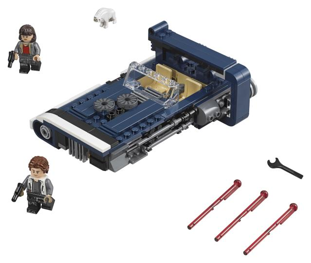 Han Solo's souped-up landspeeder (Photo: Lego)