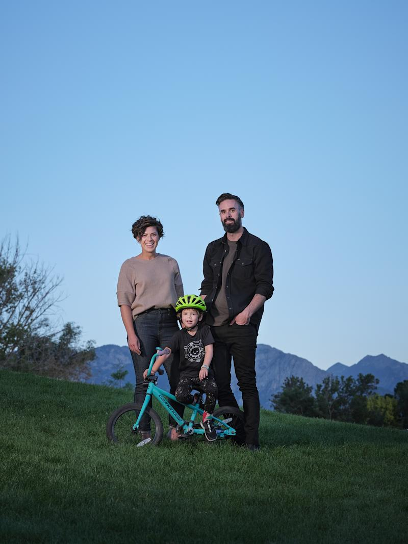 Kyl, Zoomer and Brent in Liberty Park in Salt Lake City on Aug. 10