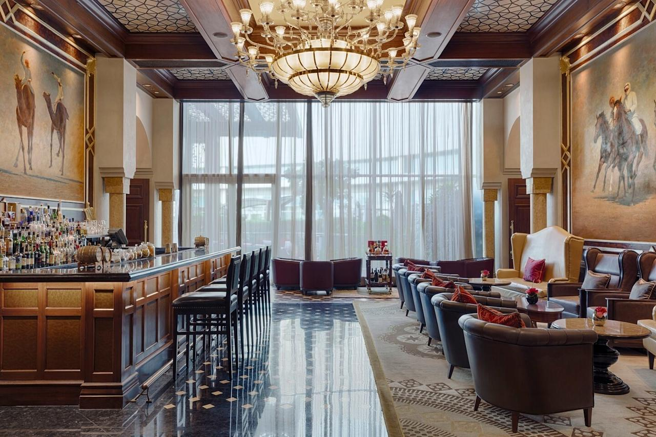 """<p><strong>What makes this meal special?</strong> One day a month, the <a href=""""https://www.cntraveler.com/hotels/united-arab-emirates/abu-dhabi/st--regis-saadiyat-island-resort--abu-dhabi?mbid=synd_yahoo_rss"""">St. Regis Abu Dhabi</a> opens its extravagant Abu Dhabi Suite to 50 brunch fanatics. The experience starts by meeting a butler in the hotel's grand reception hall; from there, you're escorted via a private elevator to the world's highest suite.</p> <p><strong>What was the crowd like?</strong> Die-hard brunch fanatics and monied travelers. Come dressed to impress; after all, this is a once-in-a-lifetime brunch.</p> <p><strong>What should we be drinking?</strong> There's a variety of bubbly and sill wines, as well as a private bar manned by the hotel's mixologist.</p> <p><strong>Main event: the food. Give us the lowdown—especially what not to miss.</strong> This opulent brunch features lavish dining spreads in different rooms: an oyster room, a cheese counter, and even a cinema stocked with candy. Don't miss the caviar bar, the crayfish bisque with truffle foam, or the prime ribeye with rosemary jus. Shooters like tomato gazpacho serve as between-course treats.</p> <p><strong>And how did you find the staff?</strong> From the butler to the resident mixologist to the chef to the servers, there is a veritable culinary army guiding you through the experience.</p> <p><strong>What's the real-real on why we're coming here?</strong> Come for the brunch of a lifetime.</p>"""
