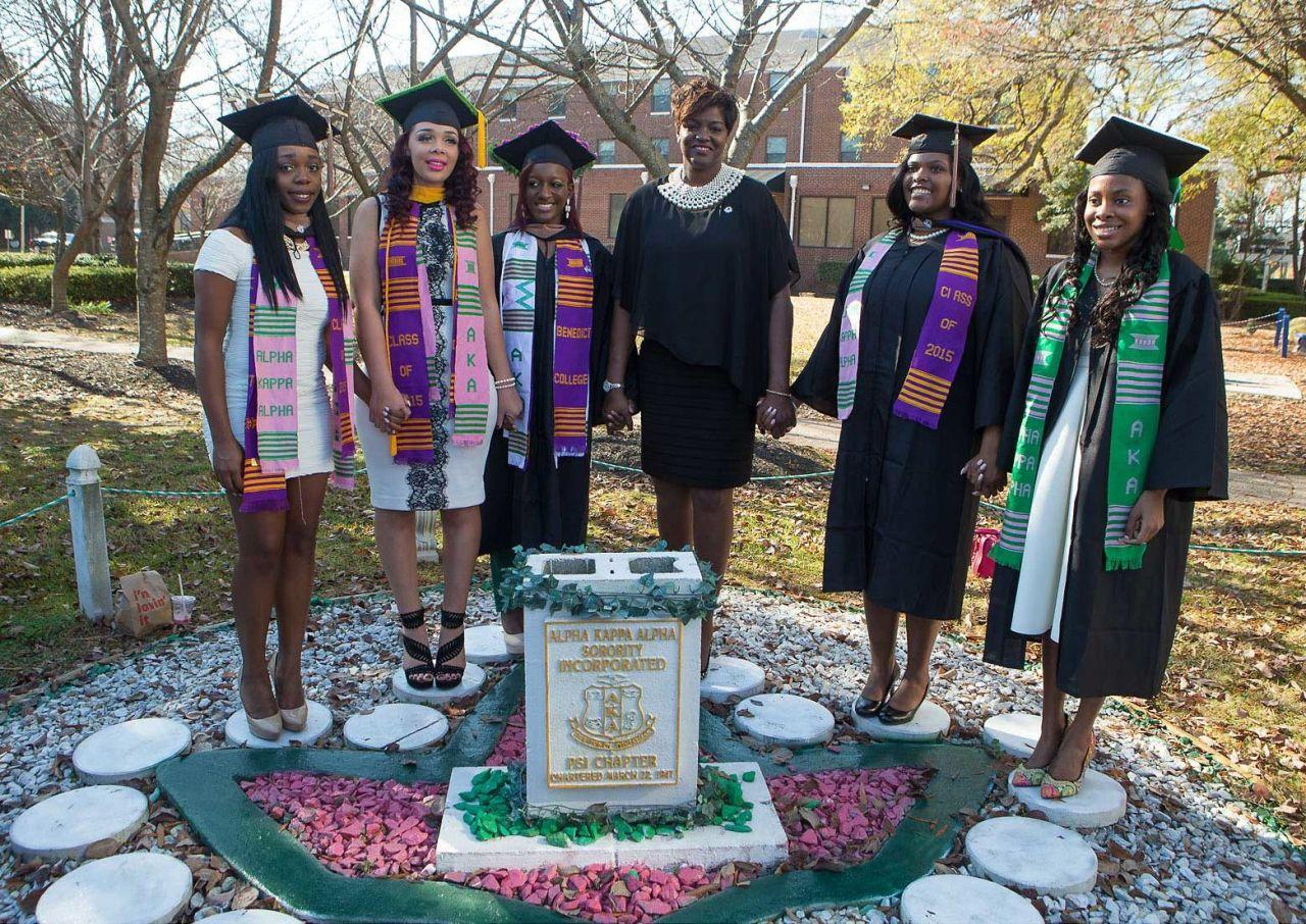 """<p>The oldest sorority of the Divine Nine—the historically black sororities and fraternities that make up the National Pan-Hellenic Council—Alpha Kappa Alpha was born in 1908 at Howard University as the first Greek letter sorority founded by African-American college-educated women. Notable Alpha Kappa Alpha women include Maya Angelou, Katherine G. Johnson (one of the NASA scientists in <em>Hidden Figures</em>), Althea Gibson, Phylicia Rashad, Wanda Sykes, Star Jones, Alicia Keys, Kamala Harris, Coretta Scott-King, Rosa Parks, and Alice Walker. AKA prides itself on supporting members' personal and professional development, advocating for social change and being of """"Service to All Mankind,"""" and has grown into a global sisterhood with more than 290,000 members in the US, Liberia, the Bahamas, the US Virgin Islands, Germany, South Korea, Bermuda, Japan, Canada, South Africa, and the Middle East. In 2016, Alpha Kappa Alpha donated more than $5 million to various community organizations and via scholarships, and served more than two million families annually.<span></span></p>"""