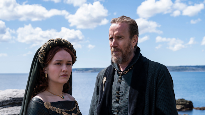 Olivia Cooke and Rhys Ifans