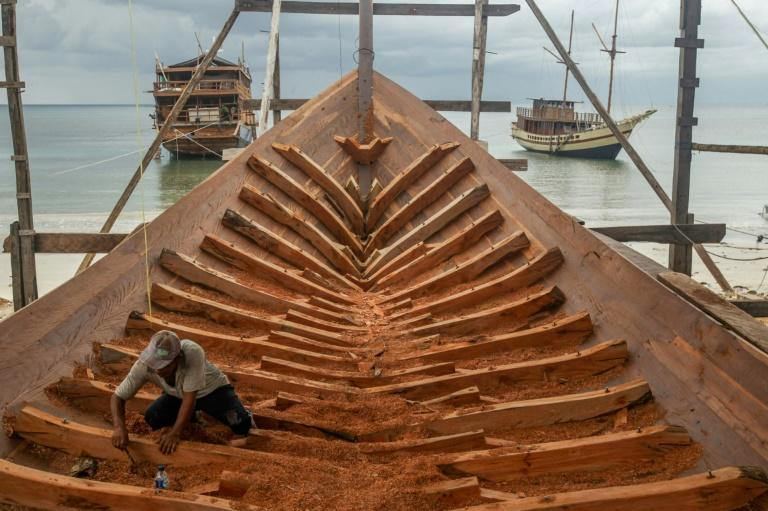 Sulawesi island is the heart of the country's industry creating the iconic schooners, known as Pinisi