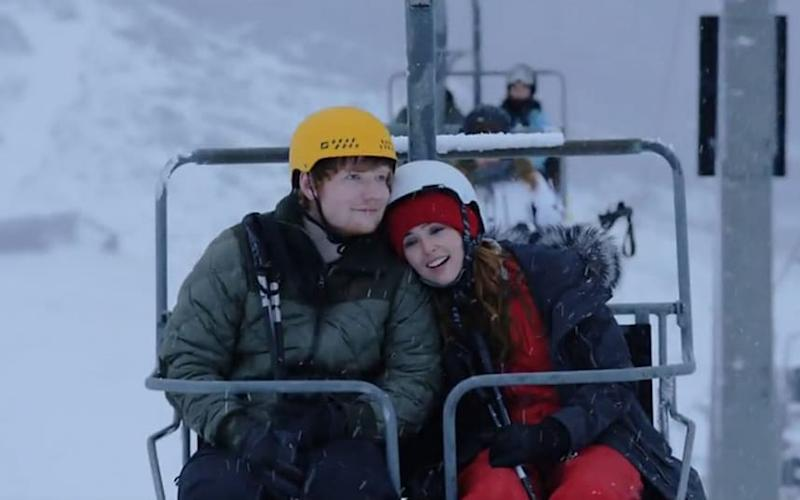Finding love on a chairlift in Ed Sheeran's latest music video - Still
