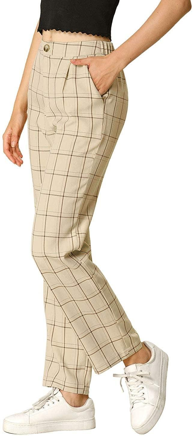 <p>Go for a casual look by rocking these <span>Allegra K Plaid Pants</span> ($30) with sneakers.</p>