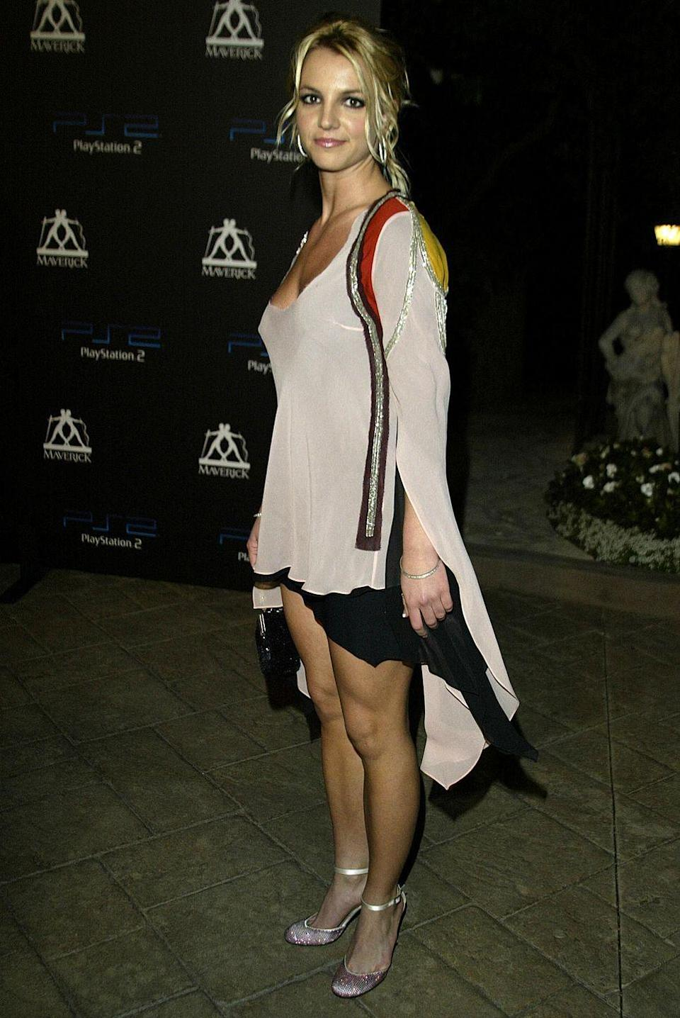 <p>Britney Spears keeps it casual for PS2 Guy Oseary's 30th Birthday Party in Beverly Hills, California.</p>