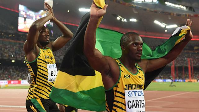 Nesta Carter, one of Bolt's teammates on the 2008 gold medal relay, violated an Olympic PED policy, leading to the team's disqualification.