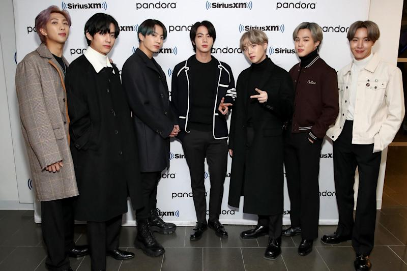 BTS visit the SiriusXM studios on 21 February 2020 in New York City: Cindy Ord/Getty Images for SiriusXM