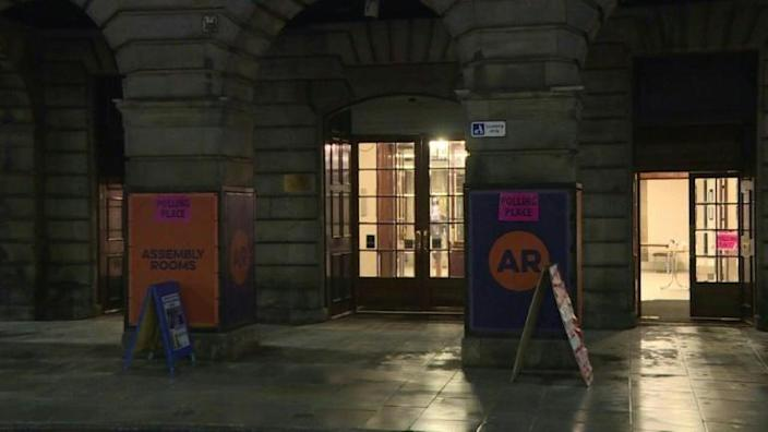 Polling station closes in central Edinburgh