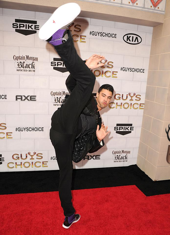 "Kristopher Van Varenberg attends Spike TV's 6th Annual ""Guys Choice"" Awards at Sony Studios on June 2, 2012 in Los Angeles, California."
