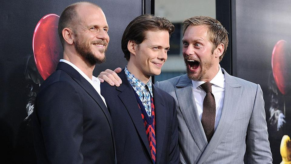 Alexander and Gustaf Skarsgard supported their brother, Bill, at his horror film's Hollywood premiere.