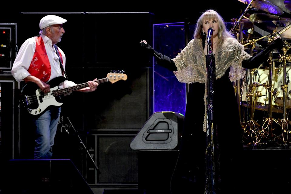 John McVie and Stevie Nicks perform at the 2018 iHeartRadio festival in Las Vegas (Getty)Kevin Winter/Getty Images for iHeartMedia