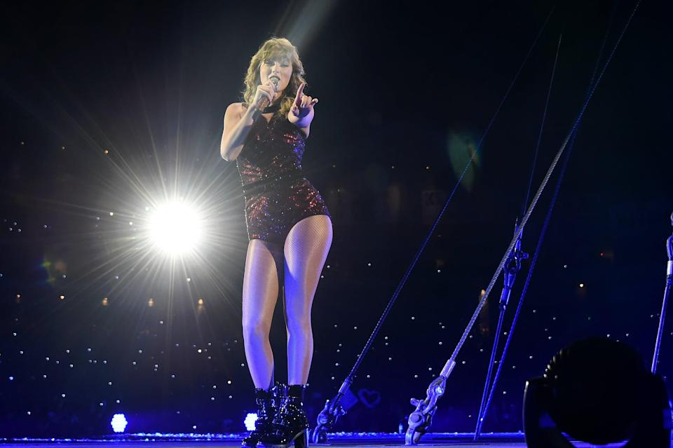 """<p>If you couldn't snag tickets to Swift's record-setting <strong>Reputation</strong> Tour, you've got another chance to watch it, with Netflix's filming of the stadium tour.</p> <p><a href=""""http://www.netflix.com/title/81026251"""" class=""""link rapid-noclick-resp"""" rel=""""nofollow noopener"""" target=""""_blank"""" data-ylk=""""slk:Watch Taylor Swift: Reputation Stadium Tour on Netflix"""">Watch <strong>Taylor Swift: Reputation Stadium Tour</strong> on Netflix</a>.</p>"""