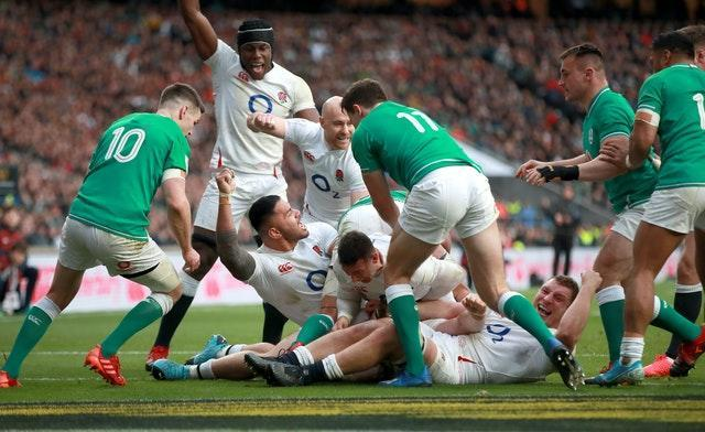 Ireland lost 24-12 to England when they visited Twickenham in February
