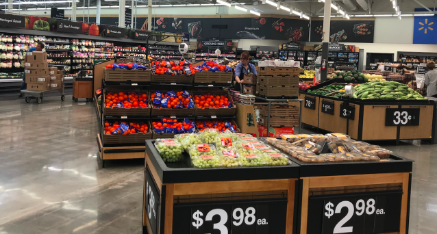 The produce section in the Walmart supercenter store in Salem, New Hampshire. (Yahoo Finance / Julia La Roche)
