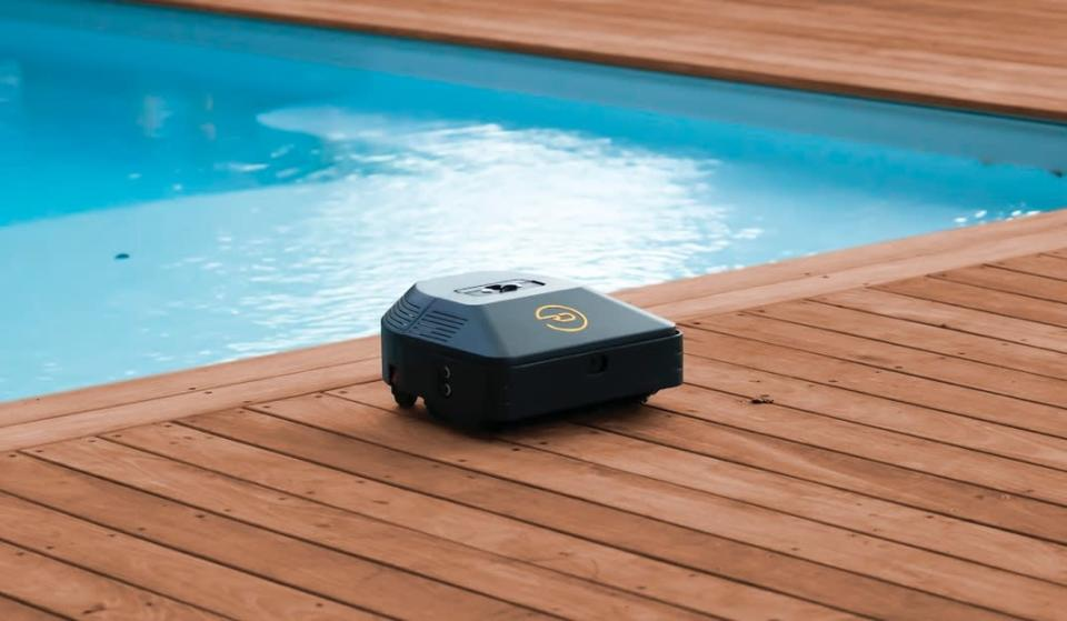 Picture of a RoboDeck device designed to keep your house's deck looking good