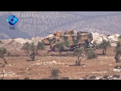 """<p>Turkish troops deployed to the <a href=""""https://www.dailysabah.com/politics/2017/10/12/first-turkish-military-convoy-enters-syrias-idlib-increasing-hopes-for-peace"""" target=""""_blank"""">Sheikh Barakat hilltops</a> along the Aleppo/Idlib provincial border during the overnight hours of October 12-13 to <a href=""""https://www.reuters.com/article/us-mideast-crisis-syria-turkey/turkish-army-surveys-syrias-idlib-before-deployment-sources-idUSKBN1CD07H"""" target=""""_blank"""">reinforce the northern de-escalation zone in Idlib</a> recently carved out in <a href=""""https://newswire.storyful.com/storylines/*/stories/182111?q=astana"""" target=""""_blank"""">Astana negotiations</a> last month.</p><p>Unconfirmed reports <a href=""""https://www.newsdeeply.com/syria/community/2017/10/10/turkeys-operation-in-idlib-may-not-bring-all-out-war-with-al-qaida"""" target=""""_blank"""">claim</a> the Turkish military convoys entered Syria via the Bab al-Hawa border crossing with an escort of <a href=""""http://eaworldview.com/2017/10/syria-daily-more-turkish-troops-into-idlib-province/"""" target=""""_blank"""">Hayyat Tahrir al-Sham (<span class=""""caps"""">HTS</span>) militants</a> and deployed to Sheikh Barakat.  The strategic hilltop faces the opposition-controlled Idlib province to its west and lies just 20 miles south of the Kurdish stronghold of Afrin.</p><p><span class=""""caps"""">HTS</span> religious leader Abu al-Fateh al-Farghali issued a fatwa in opposition to the foreign occupation of the Idlib province; however, an additional statement from al-Farghali offers relative support for the Turkish military. Farghali <a href=""""https://twitter.com/AbuJamajem/status/918502084760260610"""" target=""""_blank"""">said</a>, """"We ought to note the reality that the Turkish army has requested positions opposite the atheist factions (Kurds) with a limited force under the mujahideen's sway, one that in no circumstance exercises control or can in these areas in which Allah's law is supreme. It is also because of the need through which mujahideen are passing, a"""