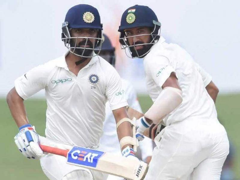 Rahane too contributed along with Pujara