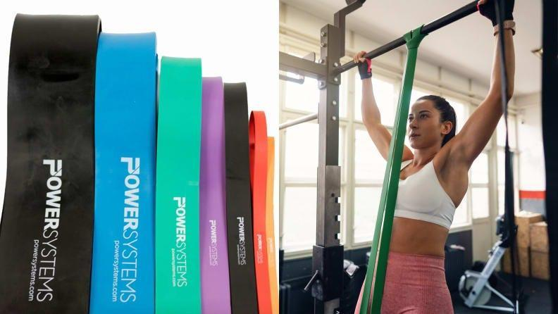 Superbands are extra hardy and can be used to assist pull-ups.