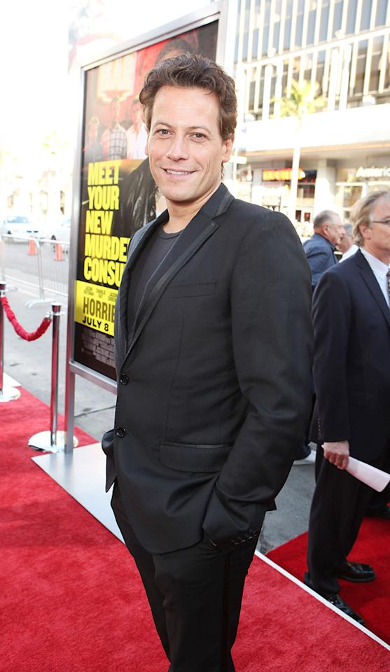 """<a href=""""http://movies.yahoo.com/movie/contributor/1800325744"""">Ioan Gruffudd</a> at the Los Angeles premiere of <a href=""""http://movies.yahoo.com/movie/1810161382/info"""">Horrible Bosses</a> on June 30, 2011."""