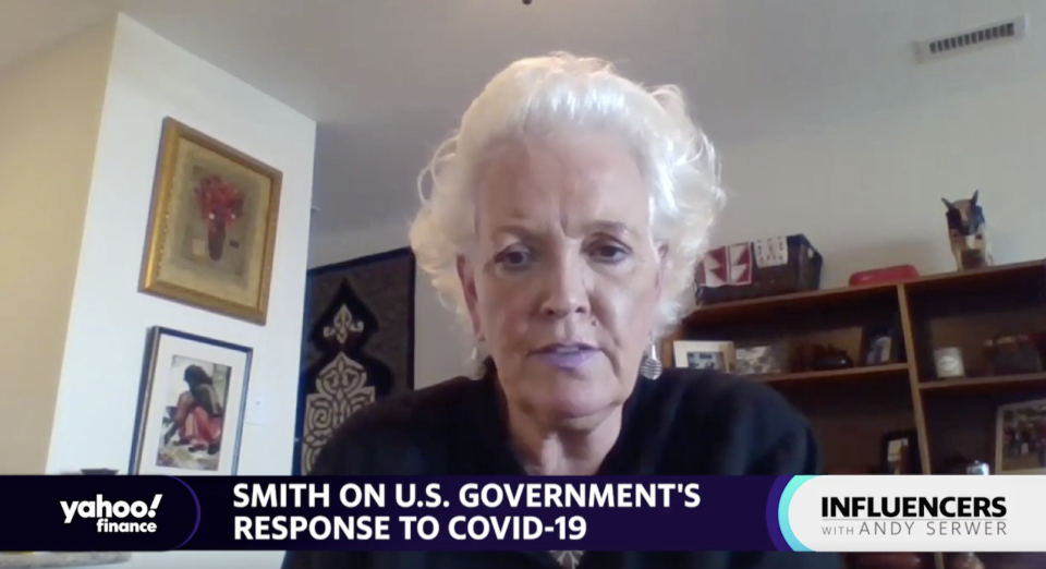 "Gayle Smith, CEO of the ONE Campaign and former head of USAID under the Obama administration, appears on ""Influencers with Andy Serwer."""