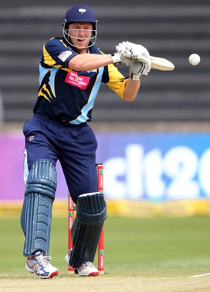DURBAN, SOUTH AFRICA - OCTOBER 22:  Andrew Gale of Yorkshire in action during the Champions League twenty20 match between Chennai Super Kings and Yorkshire Carnegie at Sahara Stadium Kingsmead on October 22, 2012 in Durban, South Africa. (Photo by Anesh Debiky / Gallo Images/Getty Images)