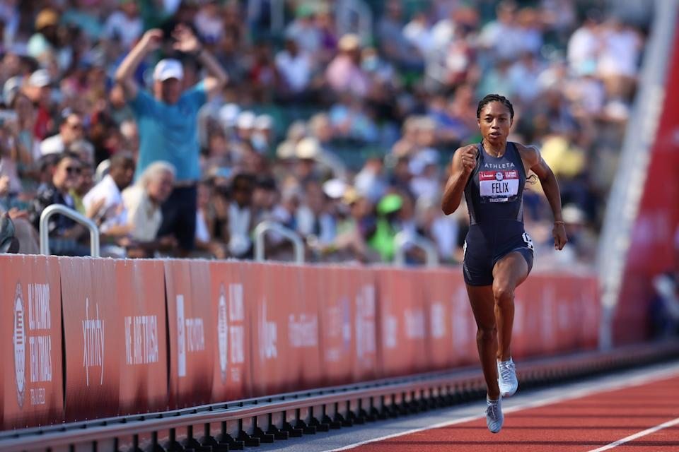 Allyson Felix is the most decorated female Olympian in track and field history with nine medals.